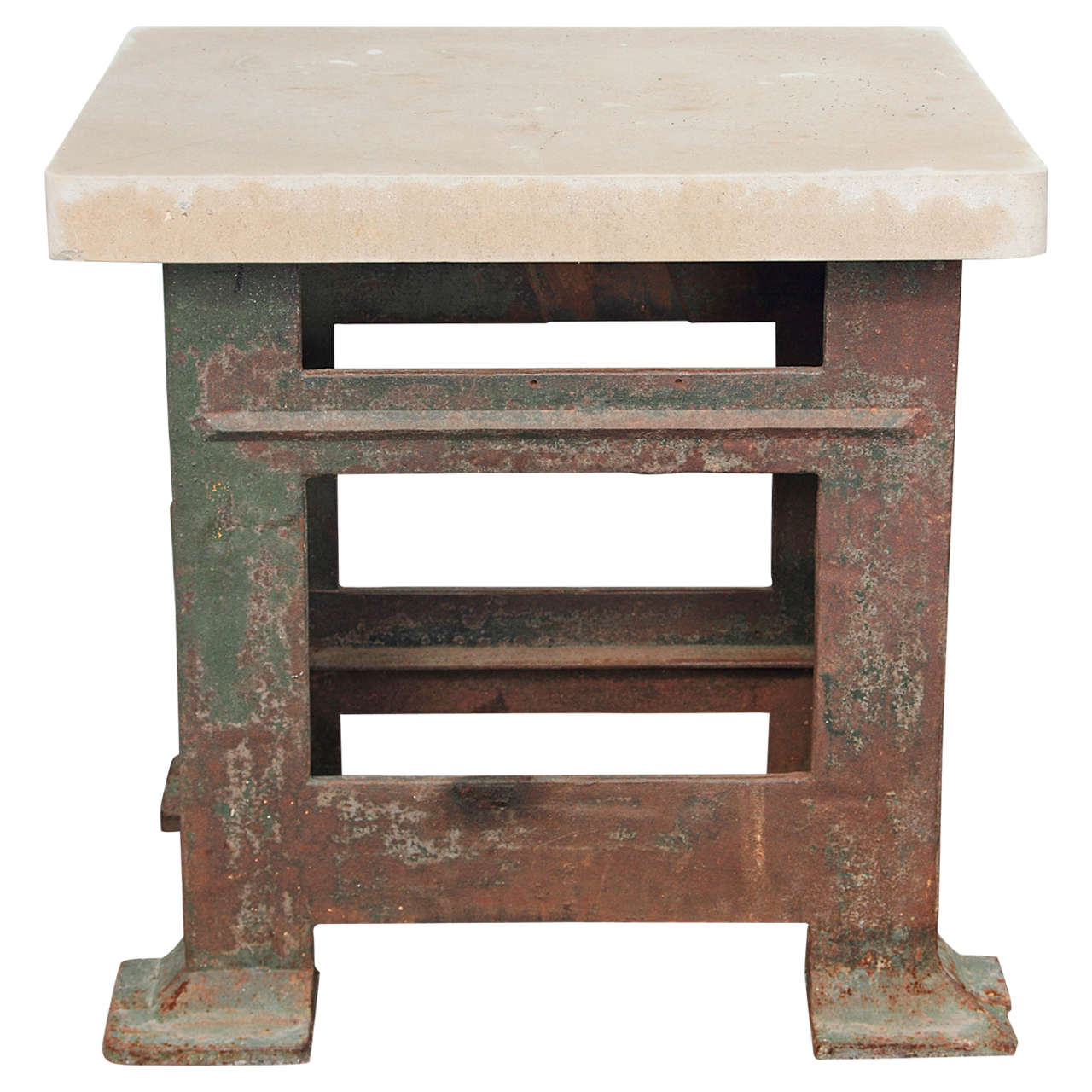 Industrial Army Green Console Table