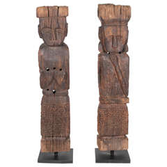 Indonesian Hand-Carved Wood Figures