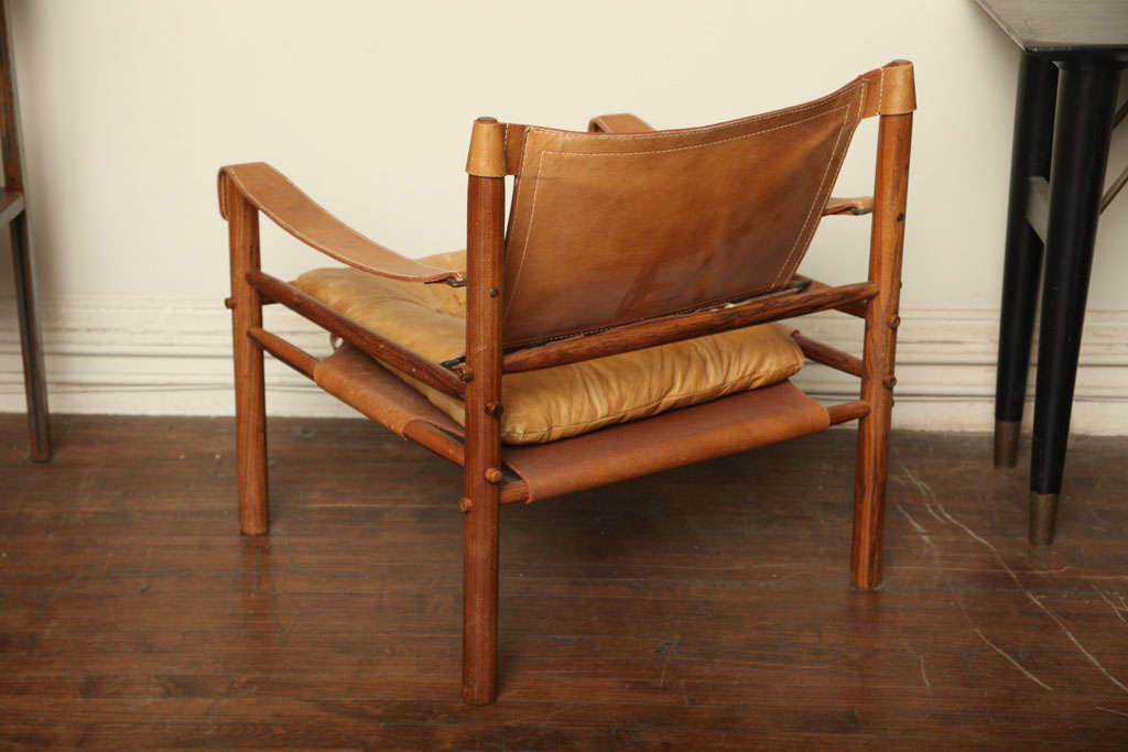 Arne Norell Safari Leather Chair image 4