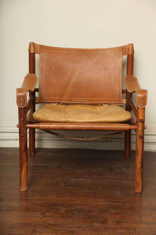 Arne Norell Safari Leather Chair image 2
