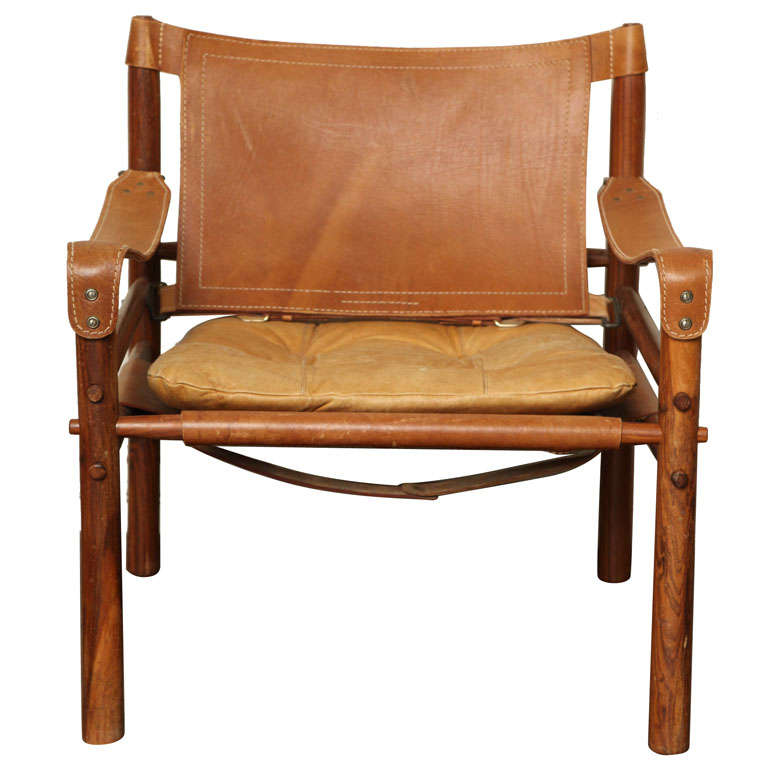 Arne Norell Safari Leather Chair