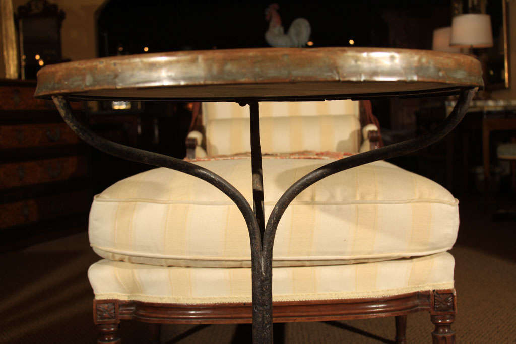 French Bistro Table With Marble Top At 1stdibs