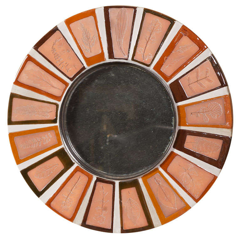 Tiled Mirror by Roger Capron