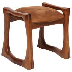 Studio Stool in Walnut, USA, C. 1970