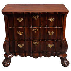 Dutch 18th Century Three-Drawer Chest