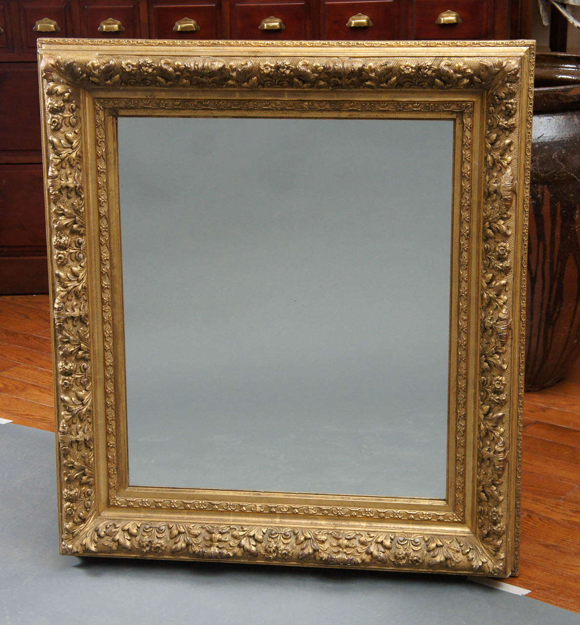 French giltwood mirror.