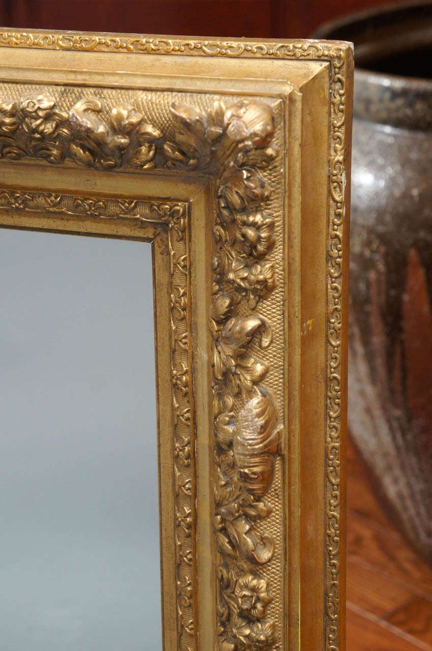 French Gilt Wood Mirror In Excellent Condition For Sale In Hudson, NY
