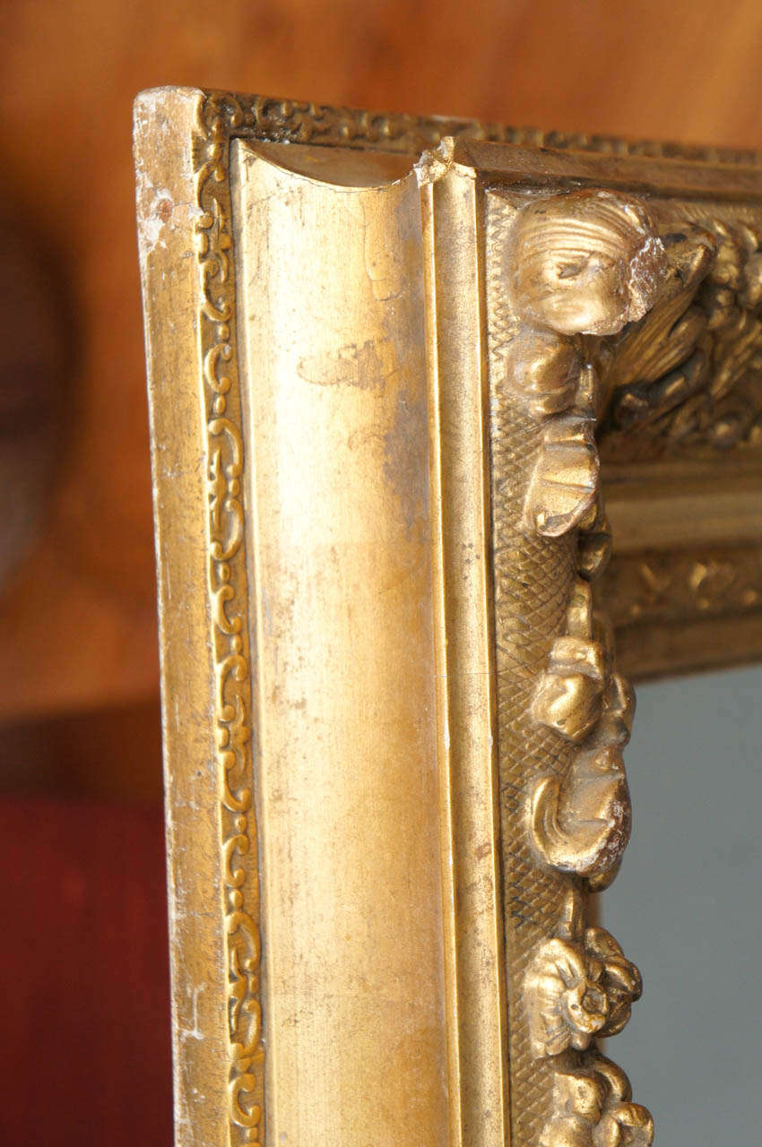 French Gilt Wood Mirror For Sale 1