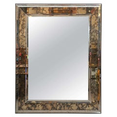 Italian Mirror with Gold Flower Hardware