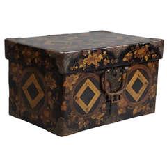 Black Lacquer Kimono Box