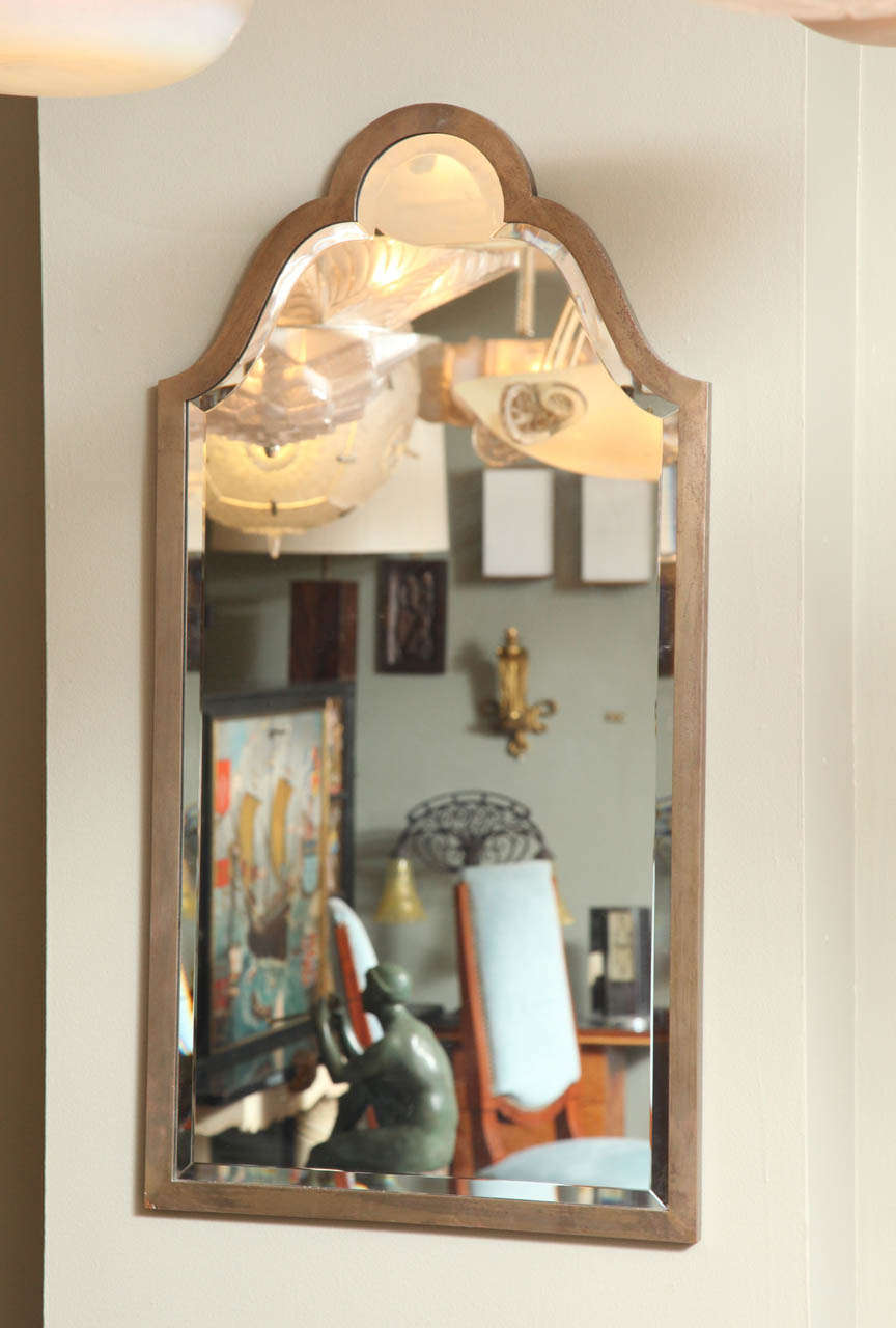 French Art Deco Console with Mirror Attributed to Raymond Subes For Sale 3