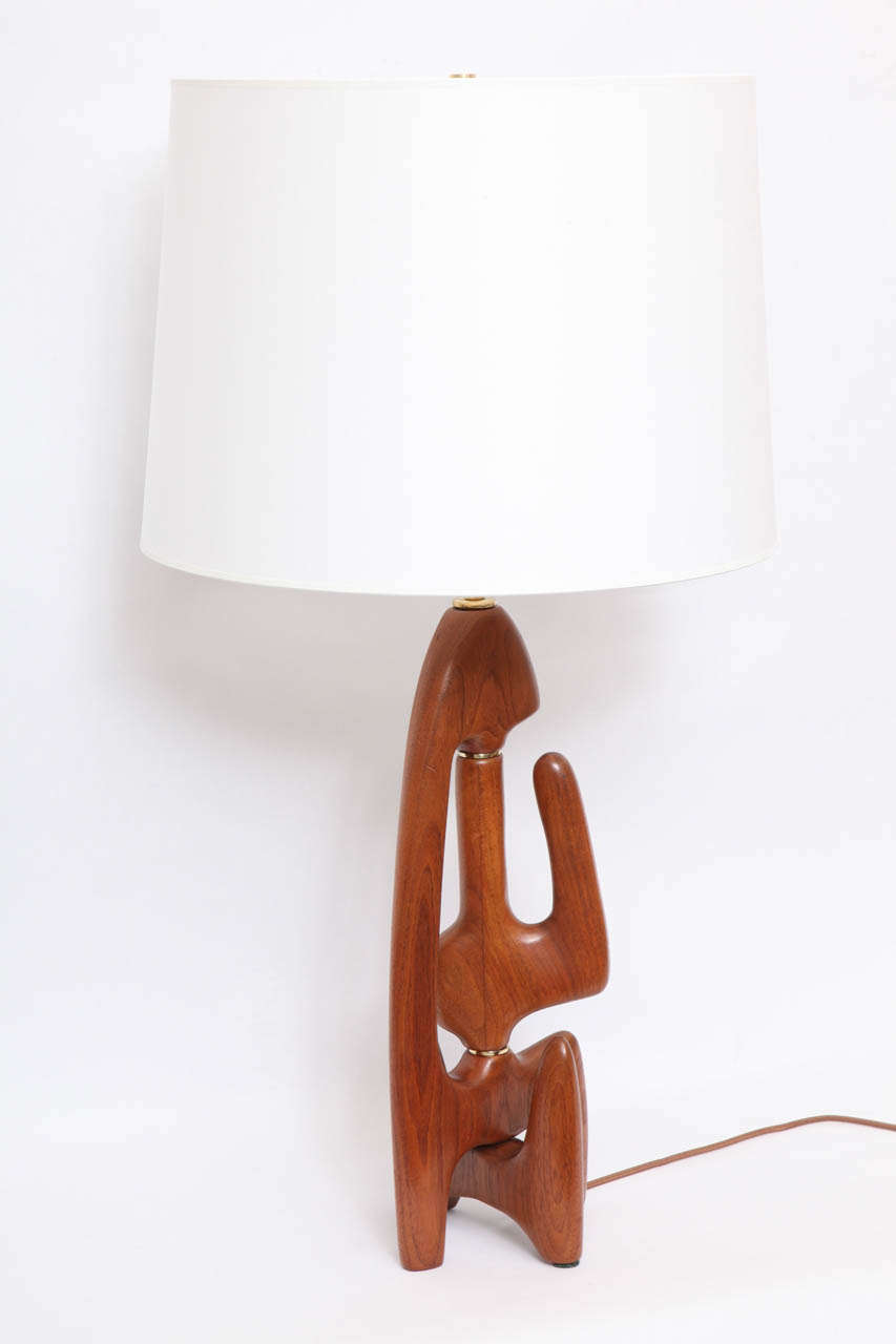 A 1950's Sculptural Table Lamp Attributed To Isamu Noguchi image 2