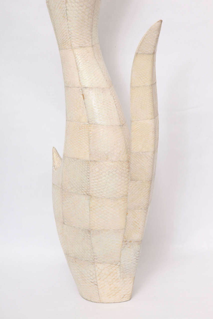 1970s Sculptural Vase of Snakeskin For Sale 2
