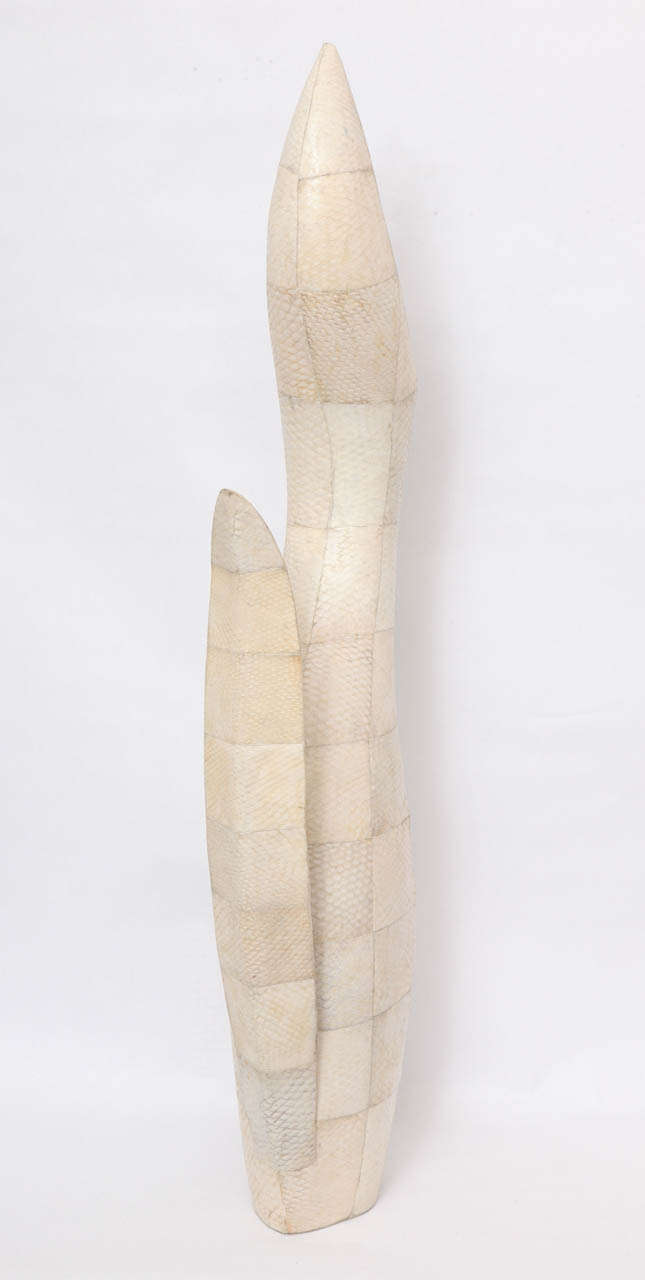 1970s Sculptural Vase of Snakeskin For Sale 3