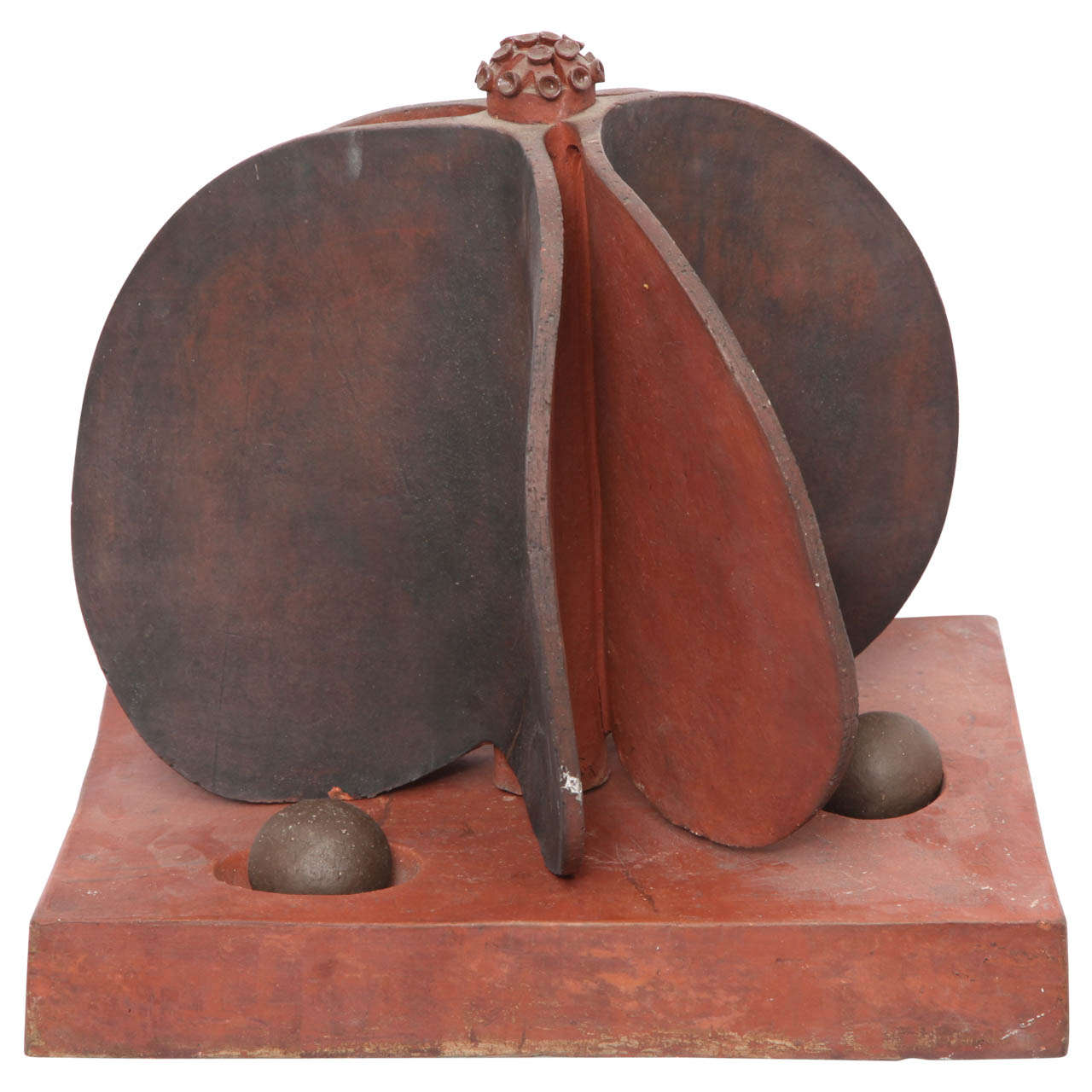 1980s Ceramic Sculpture Signed Marilyn Fox