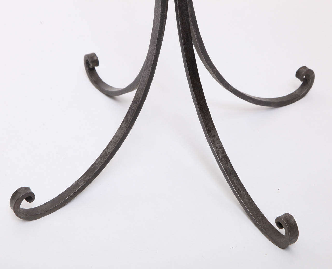 1940s French Art Moderne Hand Wrought Iron Floor Lamp For Sale 3