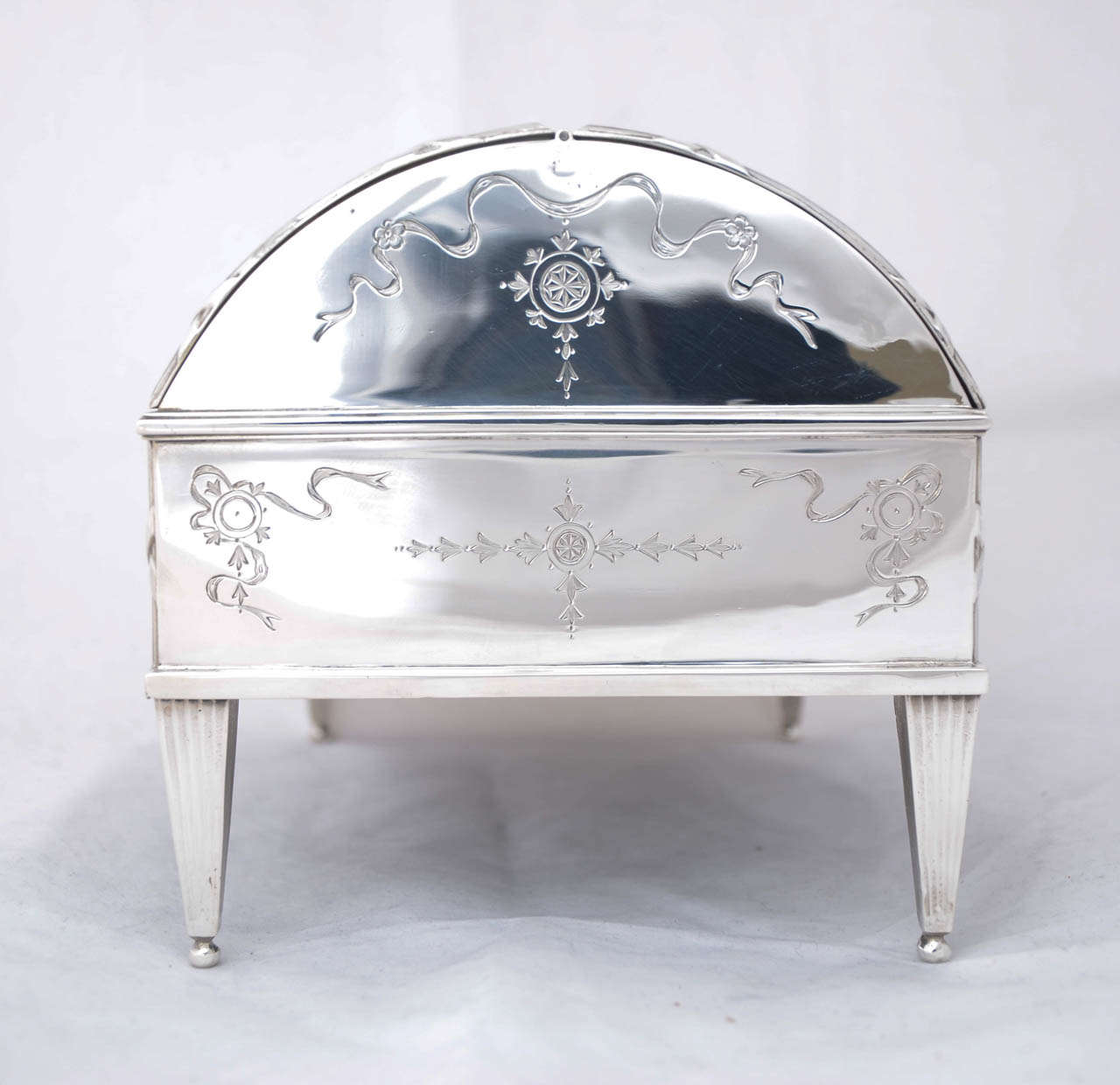 Antique Silver Jewellery Box At 1stdibs