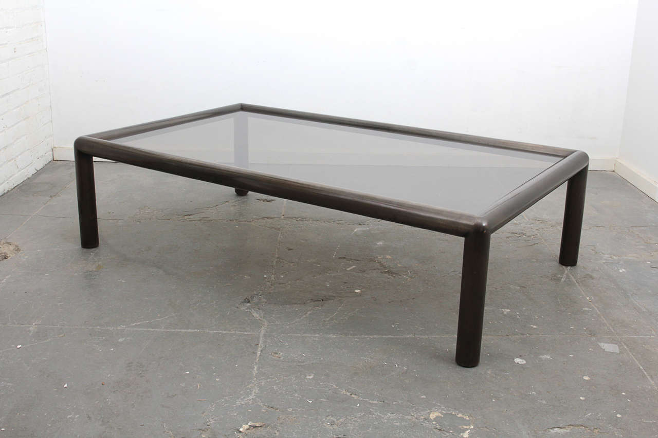 1970s Bronzed Metal And Smoked Glass Coffee Table At 1stdibs