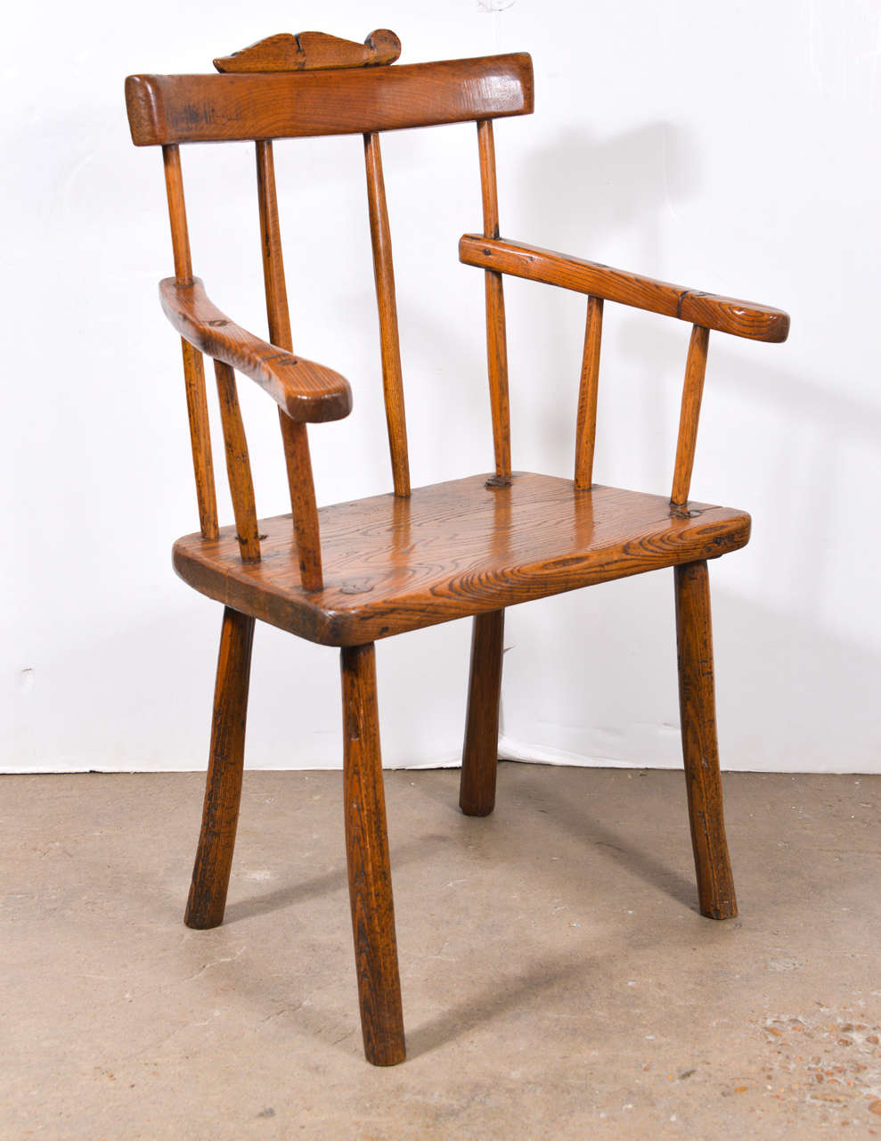 Primitive 18th Century Folk Art Chair For Sale At 1stdibs