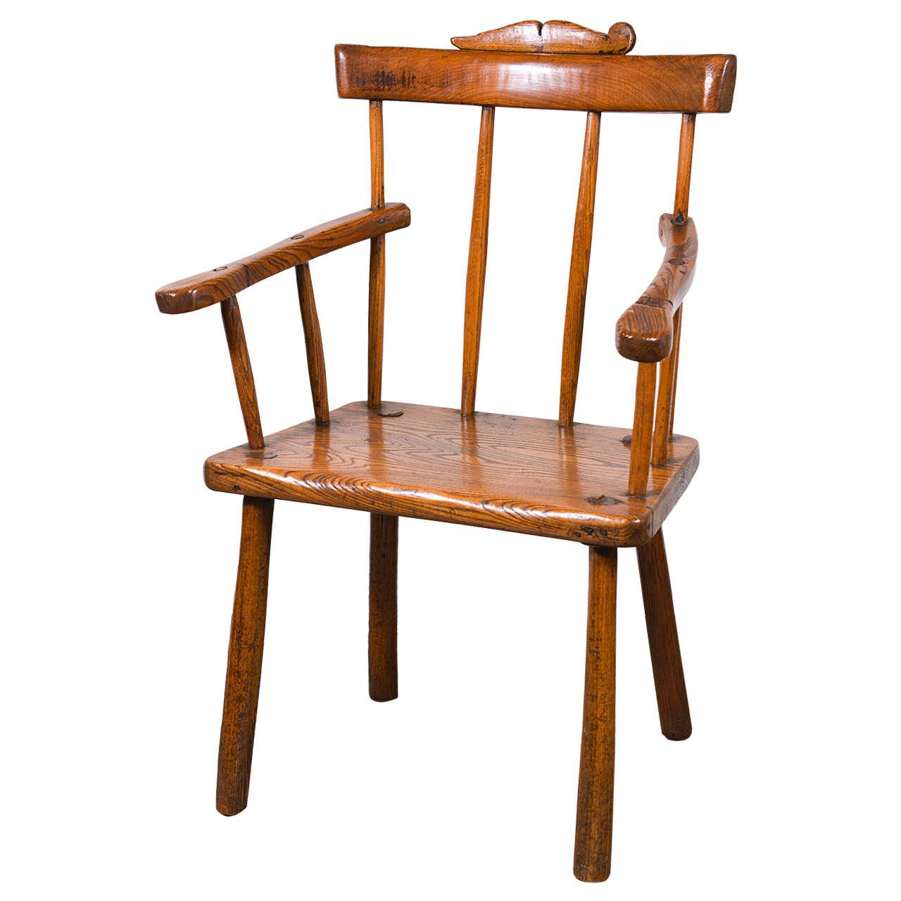 Primitive 18th Century Folk Art Chair