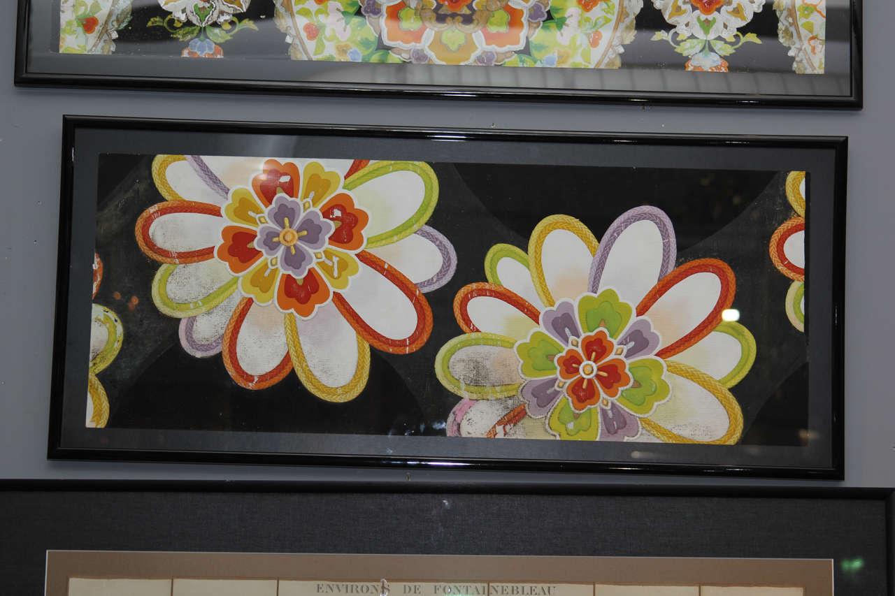 Group of Framed Japanese Design Samples For Sale 1