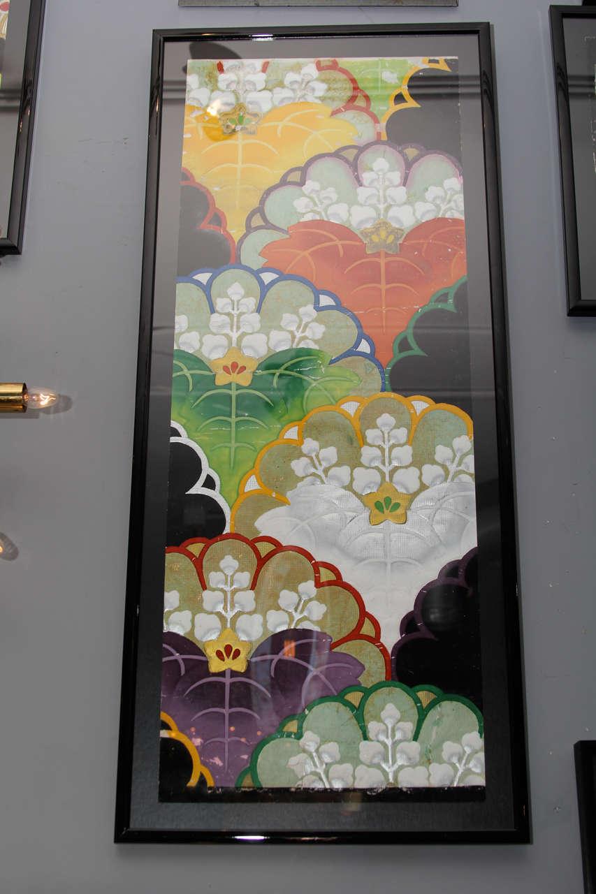 Group of Framed Japanese Design Samples For Sale 2