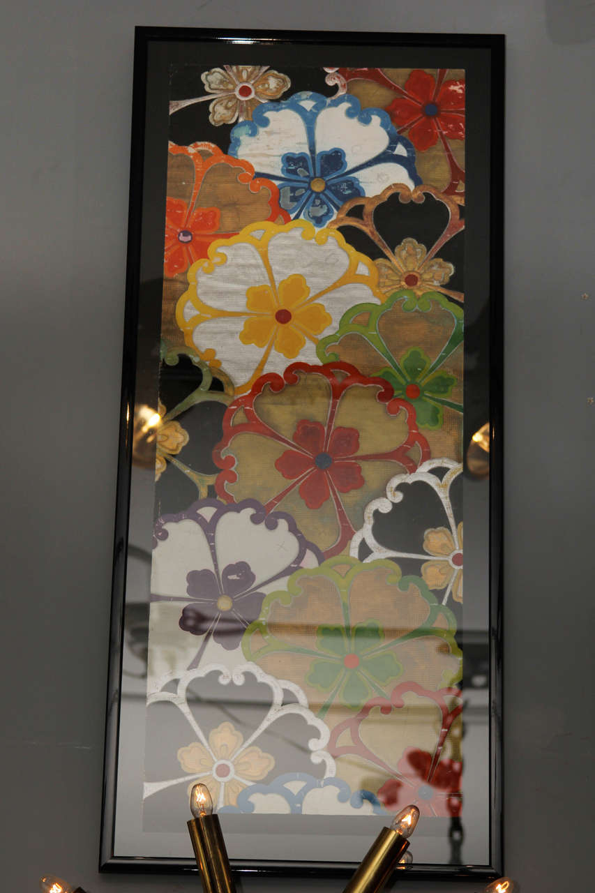 Group of Framed Japanese Design Samples For Sale 3