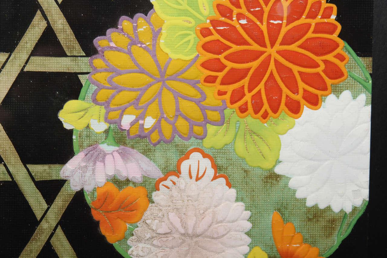 Group of Framed Japanese Design Samples For Sale 4