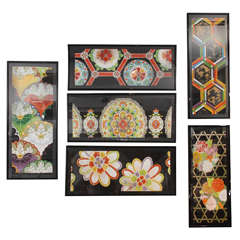 Group of Framed Japanese Design Samples