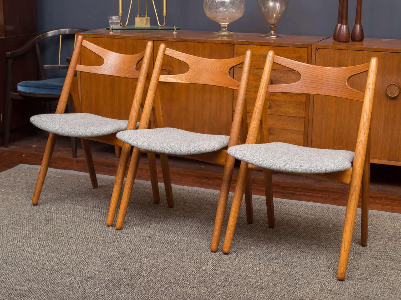 Hans J Wegner Sawbuck Chairs CH29 3