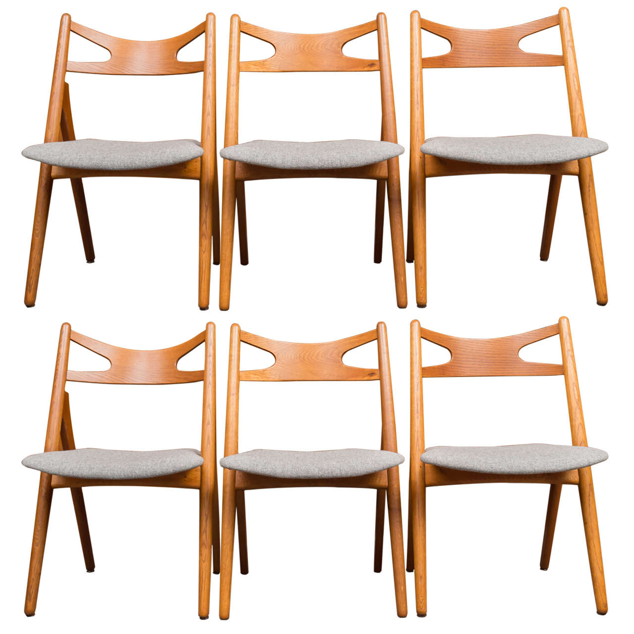 hans j wegner sawbuck chairs ch29 for sale at 1stdibs. Black Bedroom Furniture Sets. Home Design Ideas