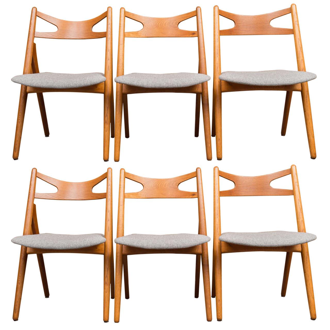 Hans J Wegner Sawbuck Chairs CH29 1