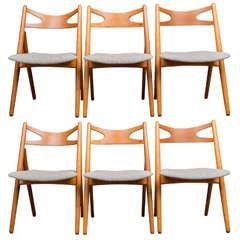 Hans J Wegner Sawbuck Chairs CH29