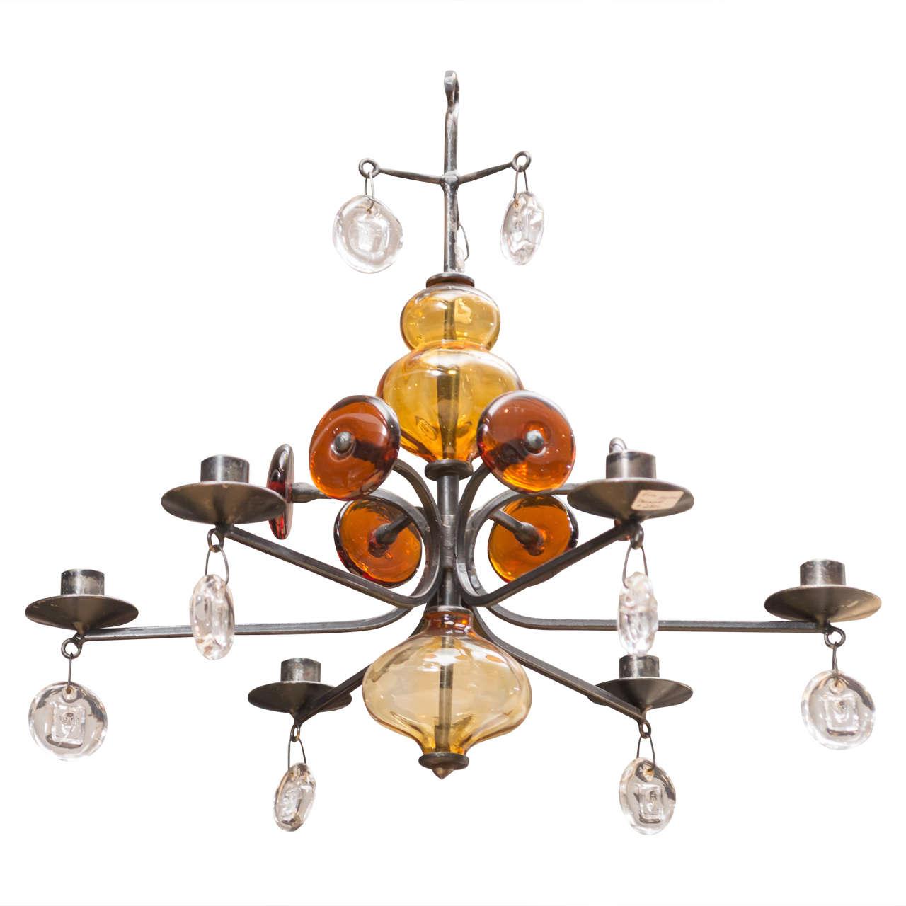 Erik hoglund six light chandelier at 1stdibs erik hoglund six light chandelier for sale mozeypictures Gallery