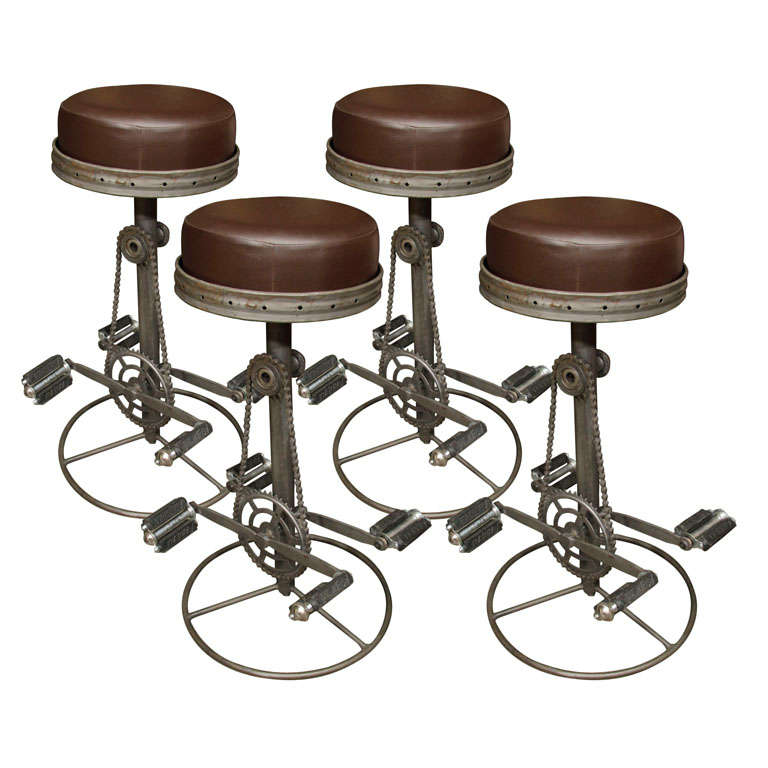 Unusual Bicycle Form Stools At 1stdibs