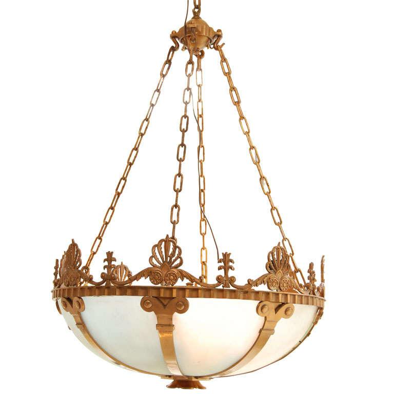 Elegant Bronze Hanging Light At 1stdibs