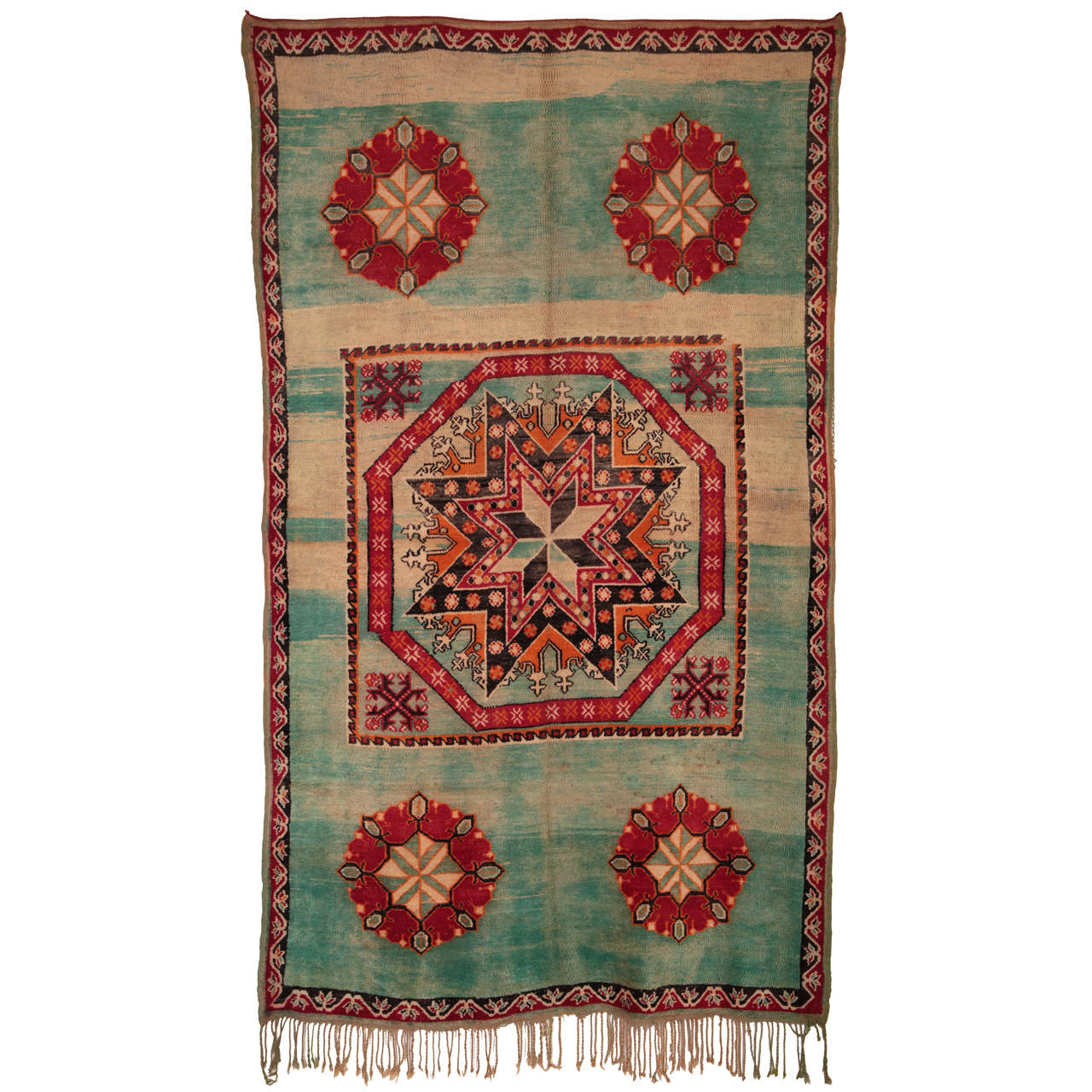 Moroccan Boucherouite Rug For Sale At 1stdibs: Moroccan Star Octagon Carpet For Sale At 1stdibs