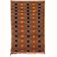 Vintage Moroccan Modernist Wool Berber Rug