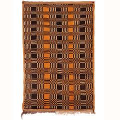 Vintage Moroccan Art Deco Wool Berber Rug, 1940's
