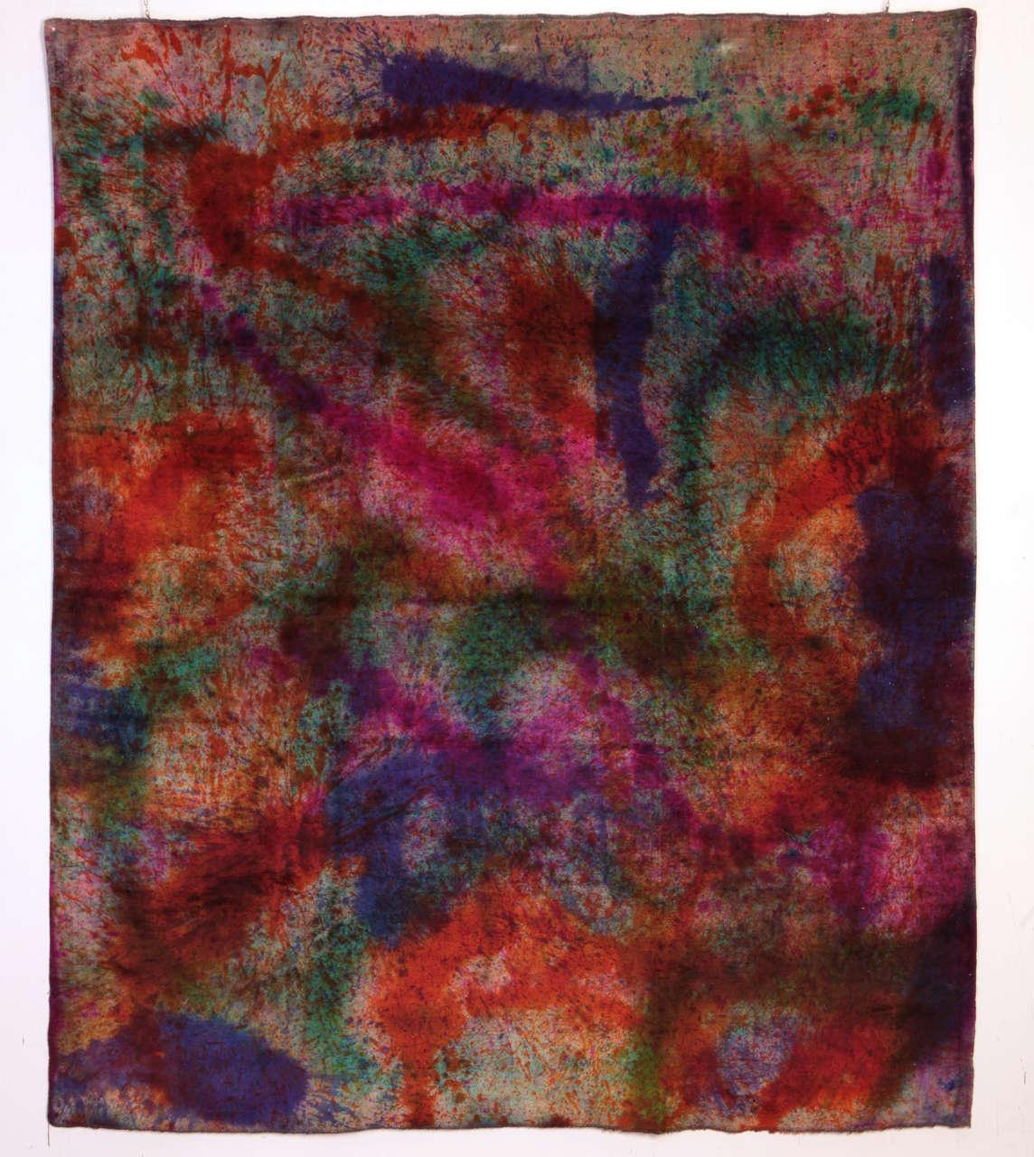 'Splash' Overdyed Turkish Carpet 2