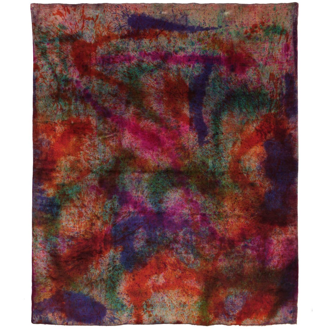 'Splash' Overdyed Turkish Carpet 1