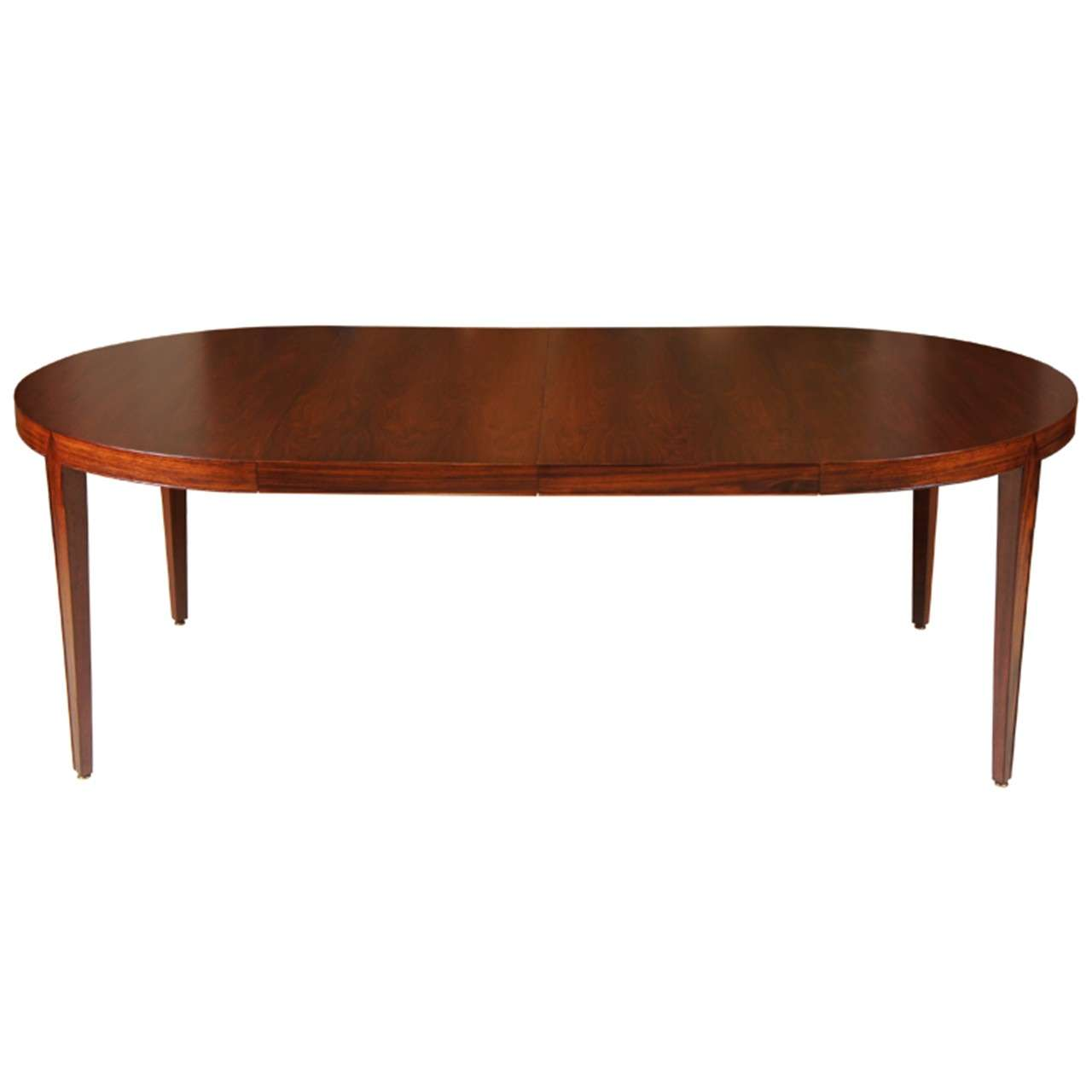 Danish modern rosewood dining table at 1stdibs for Danish modern dining room table