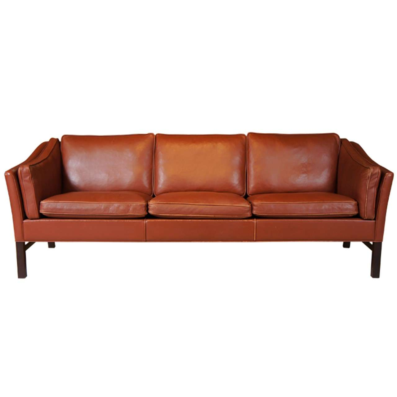 Danish modern leather sofa at 1stdibs Danish modern furniture