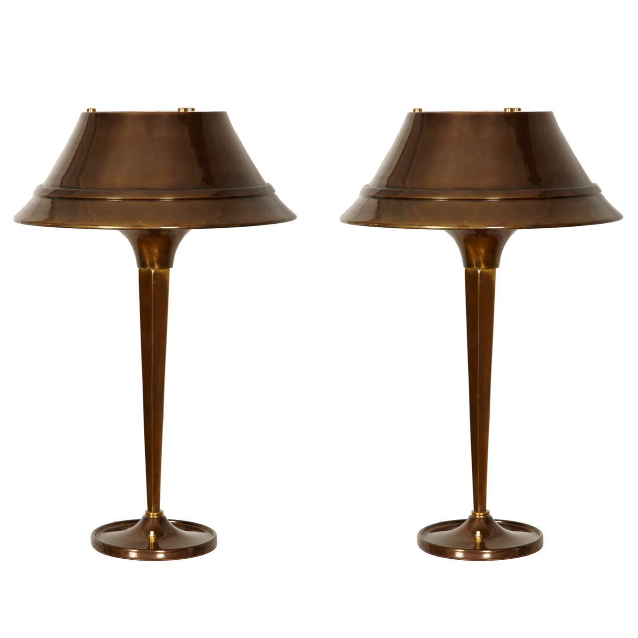 Fantastic Pair of Table Lamps Designed by Genet & Michon