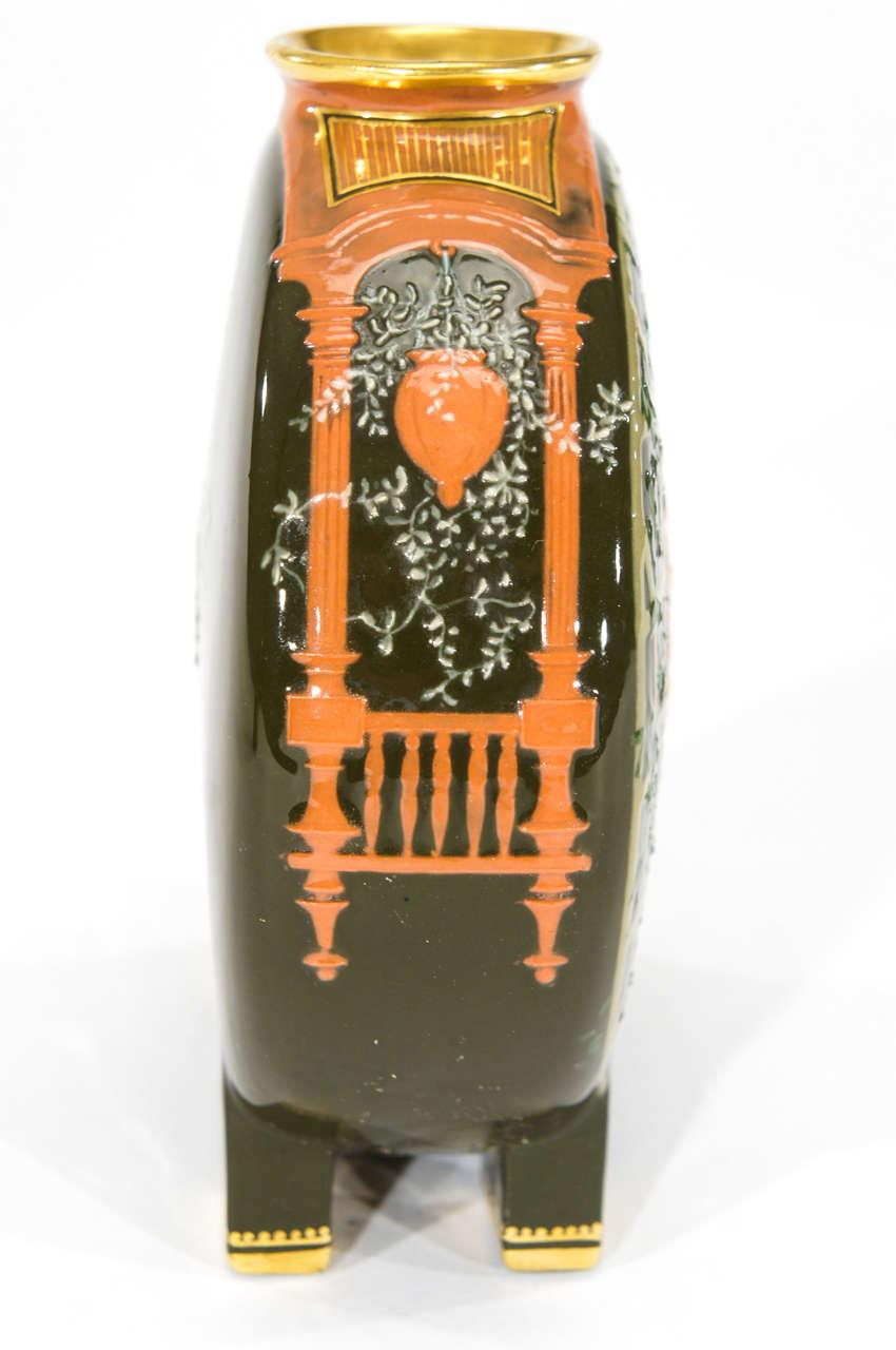 Pair of Minton Pate sur Pate Vases, signed Birks image 5