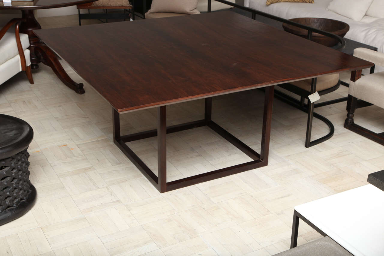 Lucca & Co, Made to Order, Walnut Dining Table In Excellent Condition For Sale In New York, NY