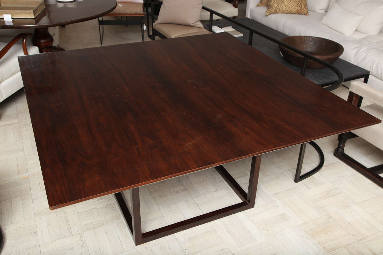 Contemporary Lucca & Co, Made to Order, Walnut Dining Table For Sale