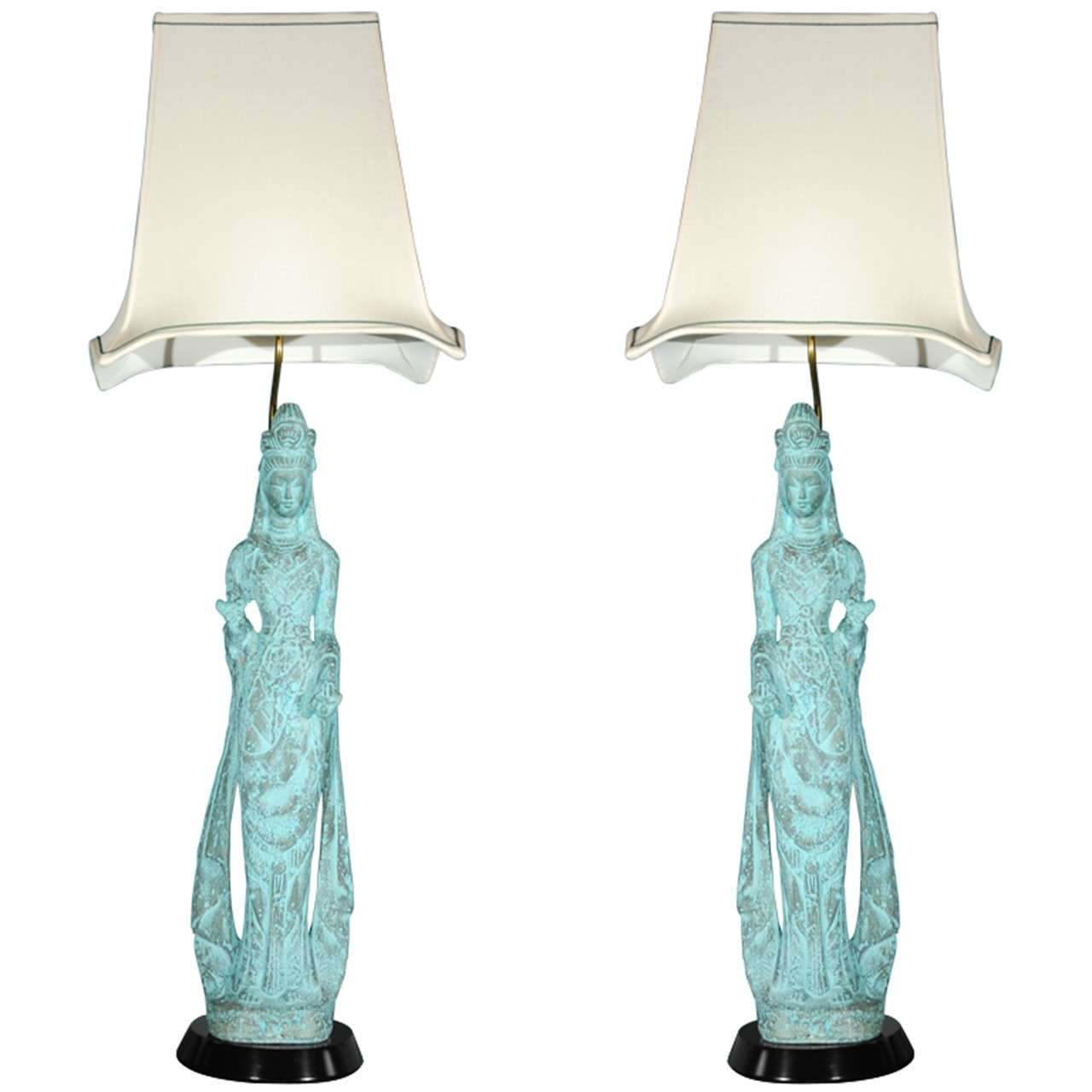 1950 S Pair Of Asian Style Table Lamps At 1stdibs