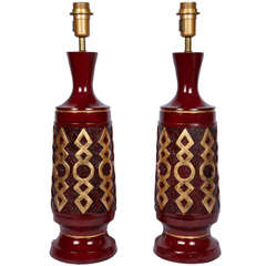 Pair of 1960s Ceramic Table Lamps