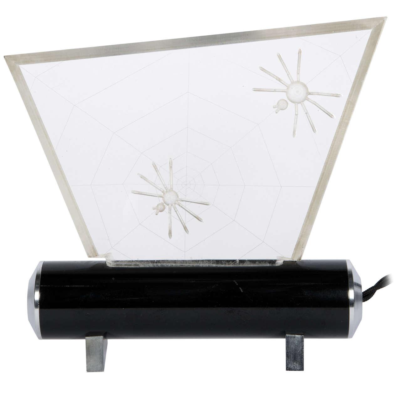 one of a kind spider lamp for sale at 1stdibs. Black Bedroom Furniture Sets. Home Design Ideas